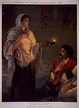 The lady with the lamp Miss Nightingale at Scutari 1854