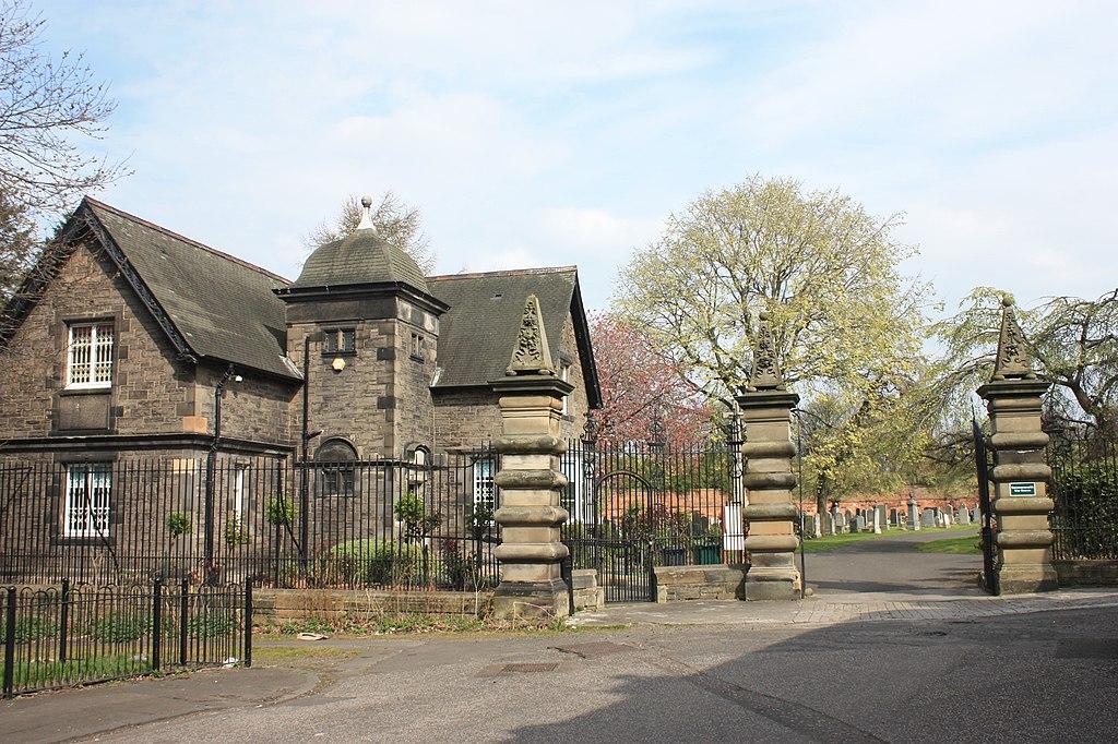 1024px The main gates and gatehouse%2C Seafield Cemetery%2C Edinburgh