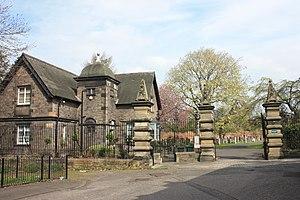 Seafield, Edinburgh - The main gates and gatehouse, Seafield Cemetery, Edinburgh
