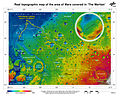 The route of 'The Martian' - from Chryse Planitia over Arabia Terra in the Martian highlands to Ares 4.jpg