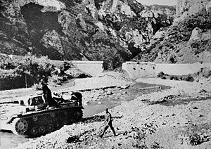 Battle of Thermopylae (1941) - German forces in Thermopylae following the battle