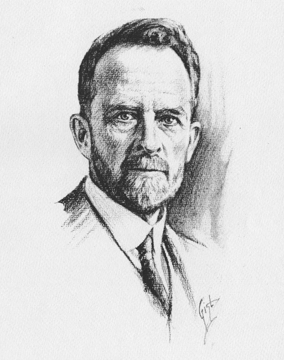 Thomas Hunt Morgan sketch 1931