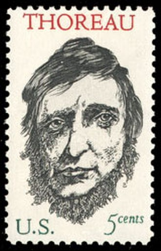 Henry David Thoreau - 1967 U.S. postage stamp honoring Thoreau, designed by Leonard Baskin