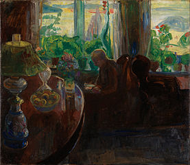 Interior with the Painter Oluf Wold-Torne
