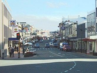 Timaru - View down Stafford Street