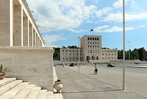 """Gherardo Bosio -  """"Nënë Tereza"""" Square in Tirana, built by Bosio in Rationalist style"""