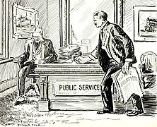 1912 cartoon. The public is demanding safety improvements from shipping companies