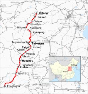 Datong–Puzhou Railway - Image: Tongpu Line