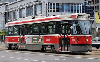 Toronto streetcar system - Toronto streetcar in May 2009.