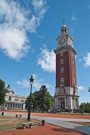 English Argentines - The Torre de los Ingleses (Tower of the English), now officially known as Torre Monumental (Monumental Tower) in Plaza Fuerza Aérea Argentina (Argentine Air Force Square), formerly known as Plaza Británica (British Square).