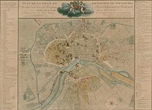 Early 19th-century map of Toulouse