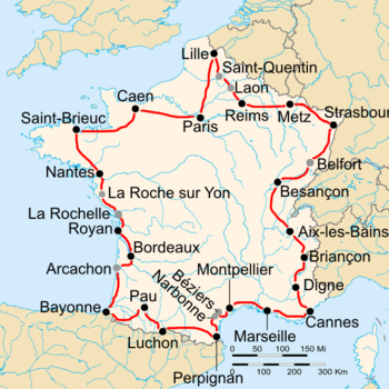 Map Of France La Rochelle.1938 Tour De France Stage 1 To Stage 10c Wikipedia