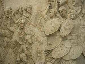 First Dacian War - Image: Traj col battle 5