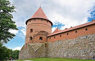 Trakai Island Castle - Forecastle walls and corner tower.