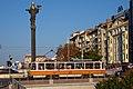 Tram in Sofia near Sofia statue 2012 PD 028.jpg