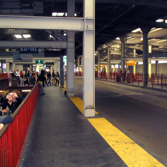 San Francisco Transbay Terminal - The bus deck in 2010, formerly the track level of the train station.