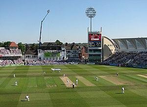 Darren Sammy - Sammy and Marlon Samuels batting against England at Trent Bridge in May 2012. During the 204-run partnership Sammy scored his maiden Test century.