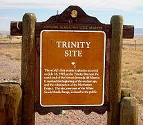 TrinitySiteHistoricalMarkerHighwaySign