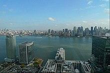 Il panorama di una penthouse del Trump Plaza di New York