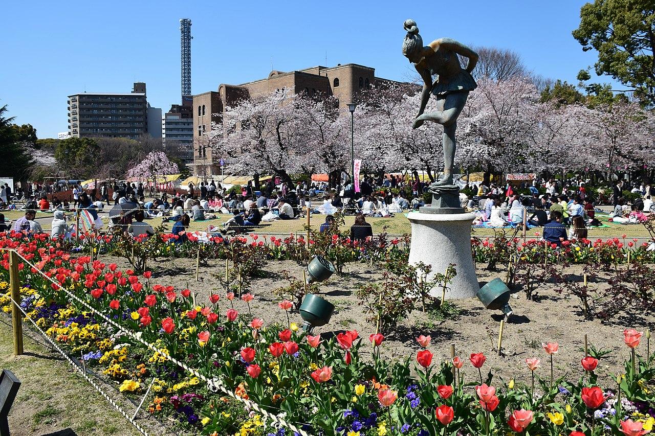 鶴舞公園 花祭り風景