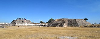 Tula (Mesoamerican site) - View of Pyramids B and C at Tula Grande