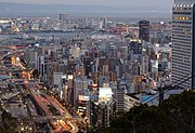 Twilight view of Kobe, from a point near Shin-Kobe station.jpg
