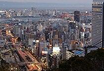 Twilight view of Kobe, from a point near Shin-Kobe station.jpg
