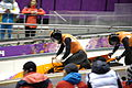 Two-man bobsleigh, 2014 Winter Olympics, Netherlands run 4.JPG