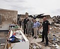 U.S. Army Gen. Frank J. Grass, center left, the chief of the National Guard Bureau, and Oklahoma Gov. Mary Fallin, center right, tour the ruins of Plaza Towers Elementary School in Moore, Okla., May 28, 2013 130528-Z-VF620-4644.jpg