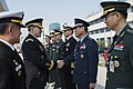 U.S. Army Gen. Martin E. Dempsey, second from left, chairman of the Joint Chiefs of Staff, meets with South Korean senior military leadership after an honor ceremony at the South Korean Joint Chiefs of Staff he 150327-D-KC128-1880.jpg