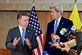 U.S. Secretary of State John Kerry and Colombian President Juan Manuel Santos Address Reporters After Bilateral Meeting (26951112205).jpg