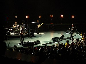 Vertigo Tour - U2 performs in Anaheim on April 1, 2005.