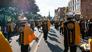 University of Arkansas at Pine Bluff - M4 marching in a Shreveport, Louisiana parade in 2013