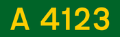 A4123 road shield