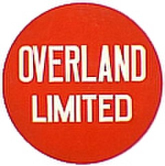 Overland Limited (UP train) - Image: UP Overland Limited