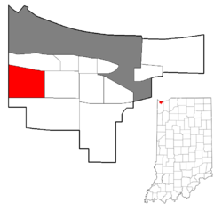 Location within the city of Gary