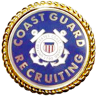 U.S. Coast Guard Recruiting Badge with Wreath