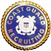 U.S. Coast Guard Recruiting Badge with Wreath