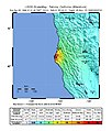 USGS Shakemap - 1992 Cape Mendocino earthquake (first aftershock).jpg