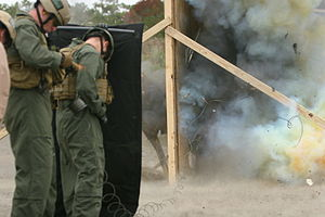 United States Marine Corps Critical Skills Operator - CSOs conducting breaching training.