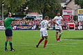 USO - RCT - 28-09-2013 - Stade Mathon - Romain Poite et Jonathan Wilkinson 1.jpg