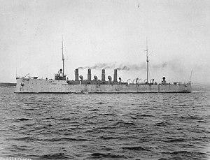 USS Birmingham (CL-2) - Image: USS Birmingham CL2