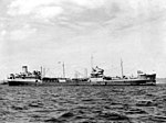 USS Chiwawa (AO-68) at anchor off Okinawa on 7 September 1945.jpg