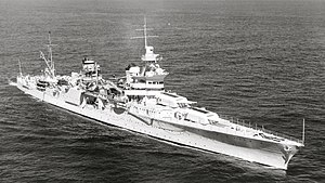 USS Indianapolis (CA-35) - Image: USS Indianapolis (CA 35) underway at sea on 27 September 1939 (80 G 425615)