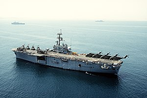 USS Iwo Jima under Operation Desert Shield.