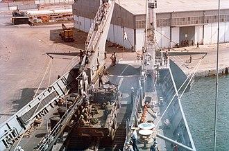 USS Saginaw (LST-1188) - USS Saginaw, Beirut 1982