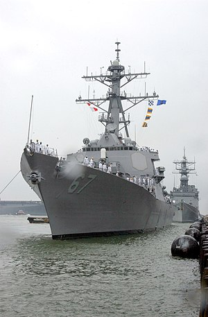 USS Cole (DDG-67) - USS Cole in April 2002.