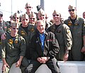 US Navy 040214-N-9999O-001 Aircrew take an opportunity to meet with the Commander-in-Chief, President George W. Bush.jpg