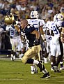 US Navy 040904-N-9693M-011 U.S. Naval Academy Midshipman 3rd Class Anthony Piccioni celebrates after a play against the Duke Blue Devils.jpg