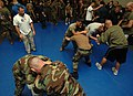US Navy 070522-N-8923M-103 Sailors and Marines practice self-defense techniques under the supervision of coaches from the International Fighting League.jpg